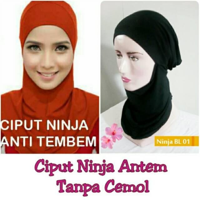 CIPUT NINJA ANTEM ZIPPER RAYON - SLETING - ANDIZA - ANTI TEMBEM - ADEM NYAMAN   Shopee Indonesia