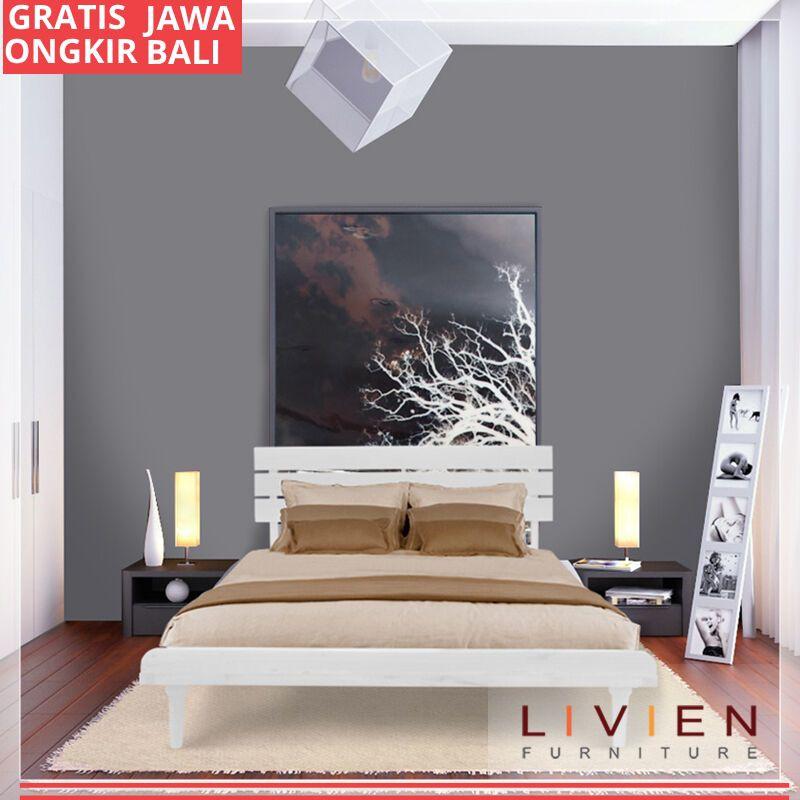 Tempat Tidur Bed Aquilla Series White Set Single Bed Divan Tanpa Kasur Matras Livien Furniture Shopee Indonesia