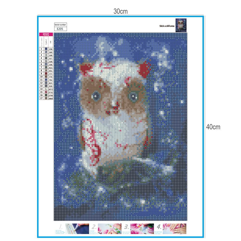 COD ⋄△Bor Penuh Berlian Lukisan Aneh Burung Cross Stitch Kit