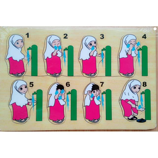 Gambar Kartun Wanita Wudhu Puzzle Cara Berwudhu Gambar Perempuan Shopee Indonesia