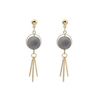 LRC Anting Tusuk Trendy Tassel Pendant Decorated Color Matching Simple Earrings. suka .