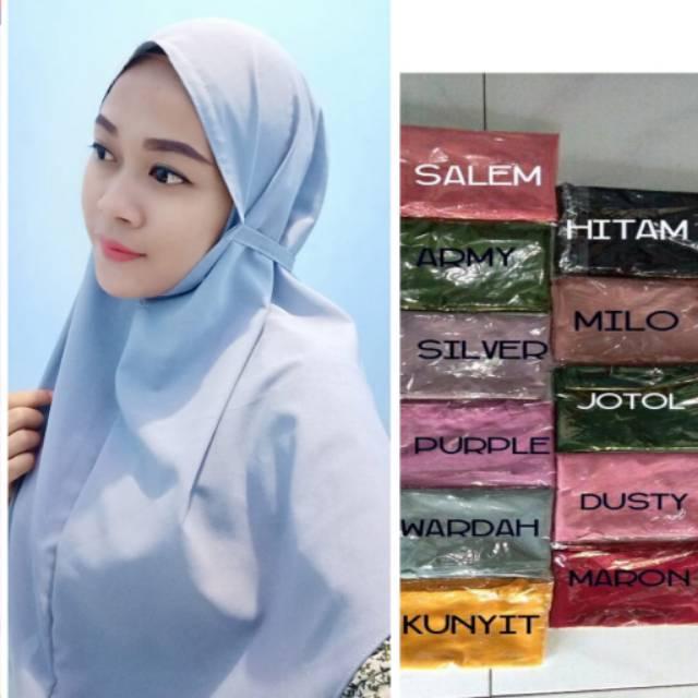 Bergo Maryam Diamond Italiano Premium Jilbab Hijab Kerudung Instan Instant Oval 75x90 Shopee Indonesia