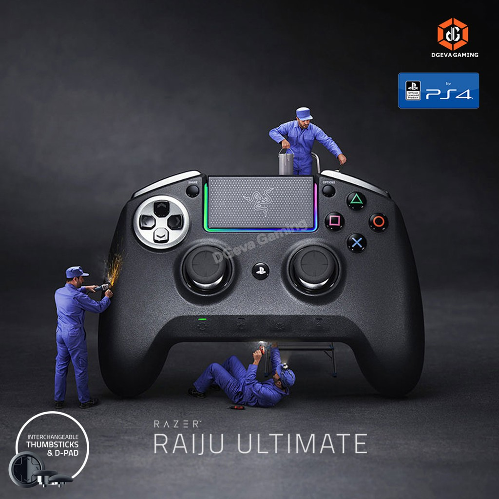 Razer Raiju Ultimate Wireless Controller Gaming Ps4 Pc Shopee Indonesia Like alice madness, street fighter v, tekken 7? razer raiju ultimate wireless controller gaming ps4 pc