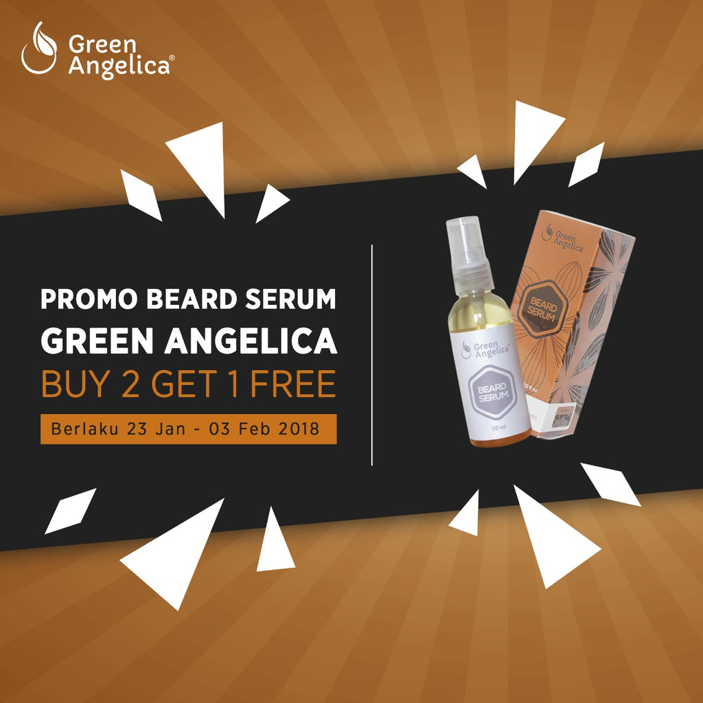 Obat Penumbuh Bulu Brewok Jenggot Jambang Kumis Aman Tanpa Efek Samping Beard Serum Green Angelica | Shopee Indonesia