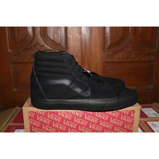 Shopee Sepatu Pria Sneakers Sneakers Kasual Grosir Sepatu Vans SK8 Hi Full  Black Hitam Premium Import. suka  7 271c9db9e3