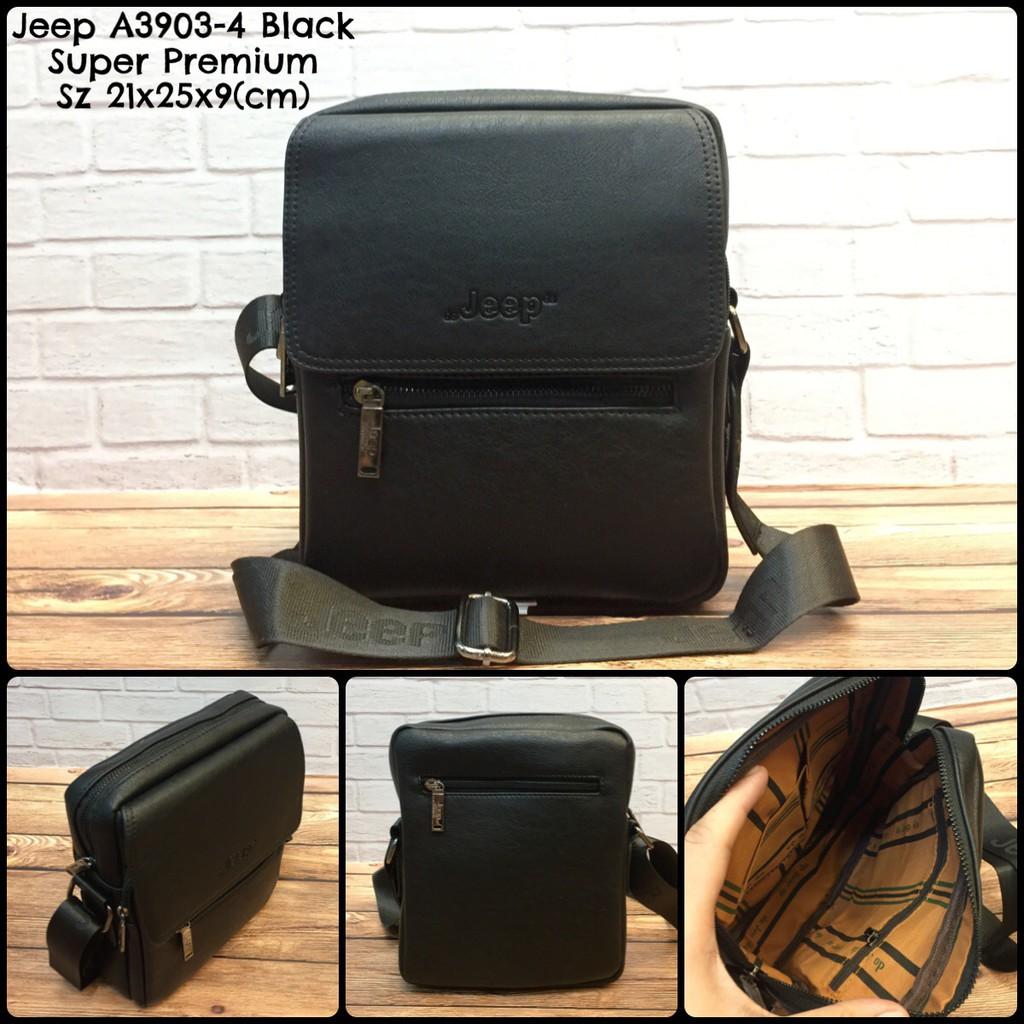 tas pria jeep 604 black super premium tas cowok tas murah tas import tas  selempang  55c891b994