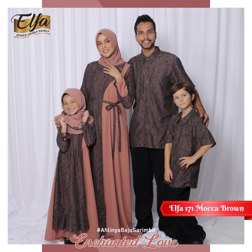 Sarimbit Keluarga Terbaru 2021 Ethica Elfa 171 Mocca Brown Shopee Indonesia