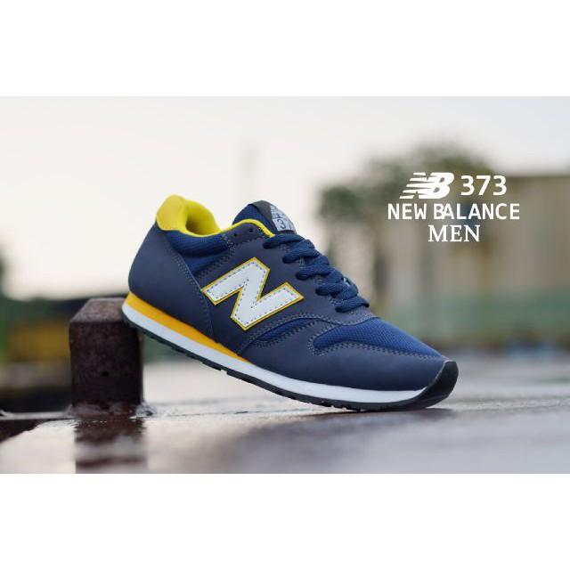 New Balance 373 Navy Yellow