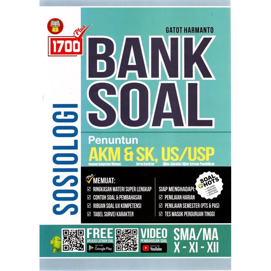 Buku 1700 Plus Bank Soal Sosiologi Sma Penuntun Akm Dan Sk Shopee Indonesia