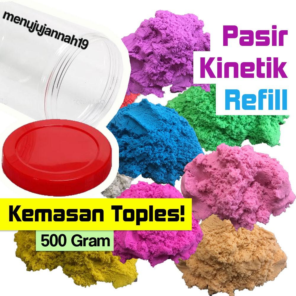 Pasir Kinetik Ajaib - Kemasan TOPLES Refill - 500 Gram PLAY SAND | Shopee Indonesia