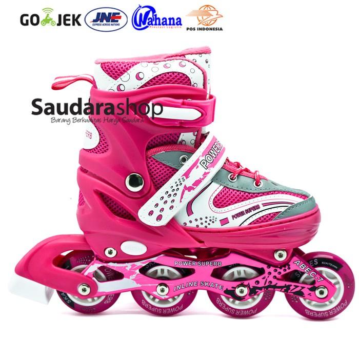 Power King Sepatu Roda Inline Skate Hitam Sepaturoda Inlineskateroda ... d130f06d6b