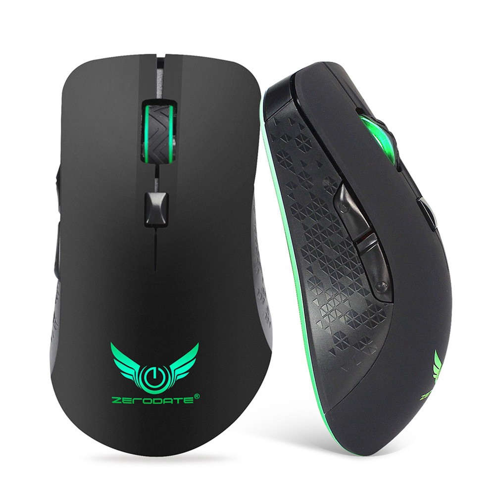 Bayar Di Tempatzerodate Wireless Rechargeable Gaming Mouse 6buttons Cliptec M110 Illuminated 1600dpi Grey 7colors Breathing Light Shopee Indonesia