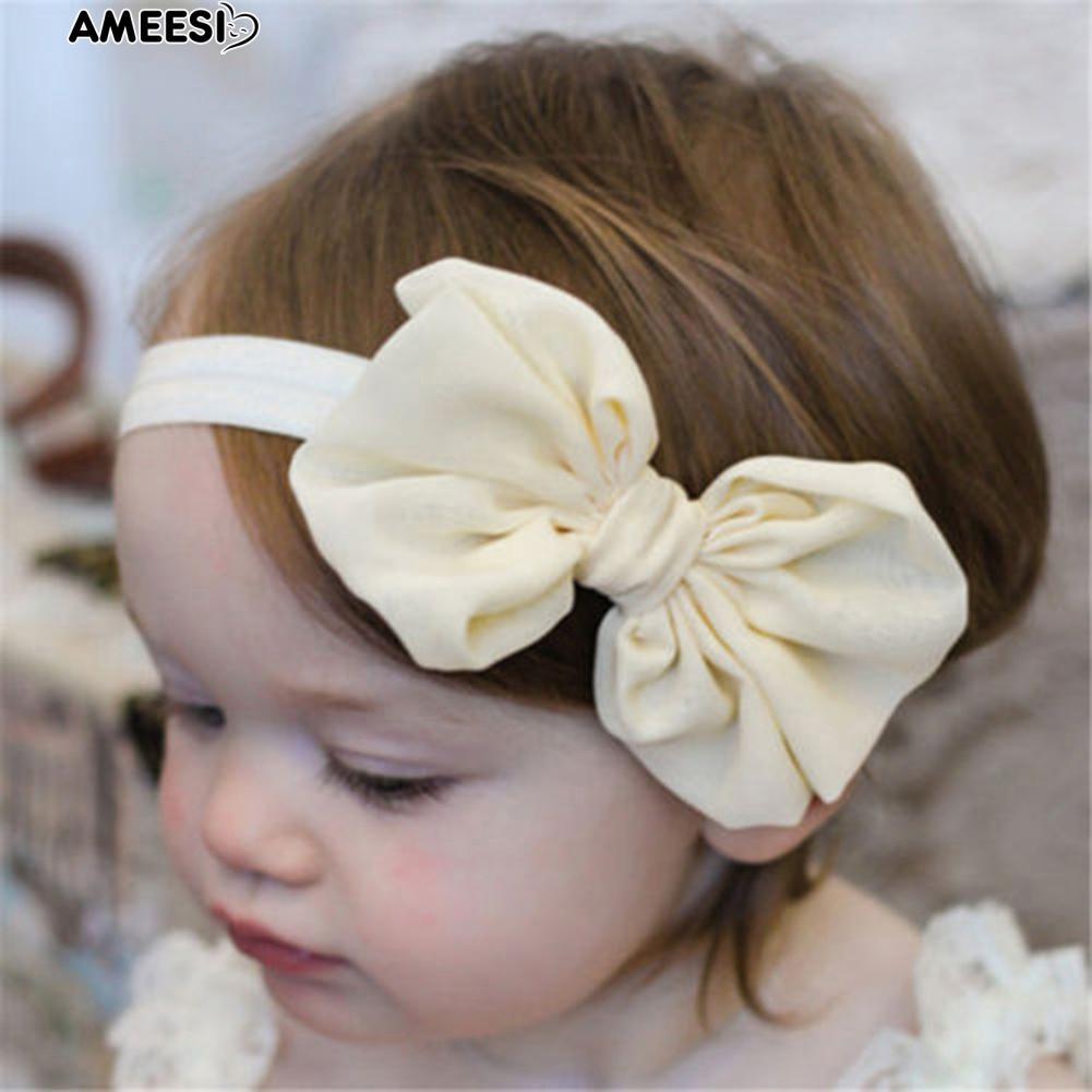 [Bayar Di Tempat] 10 Pcs Gadis Bayi Putri Kecil Sifon Balita Ikatan Simpul Headband