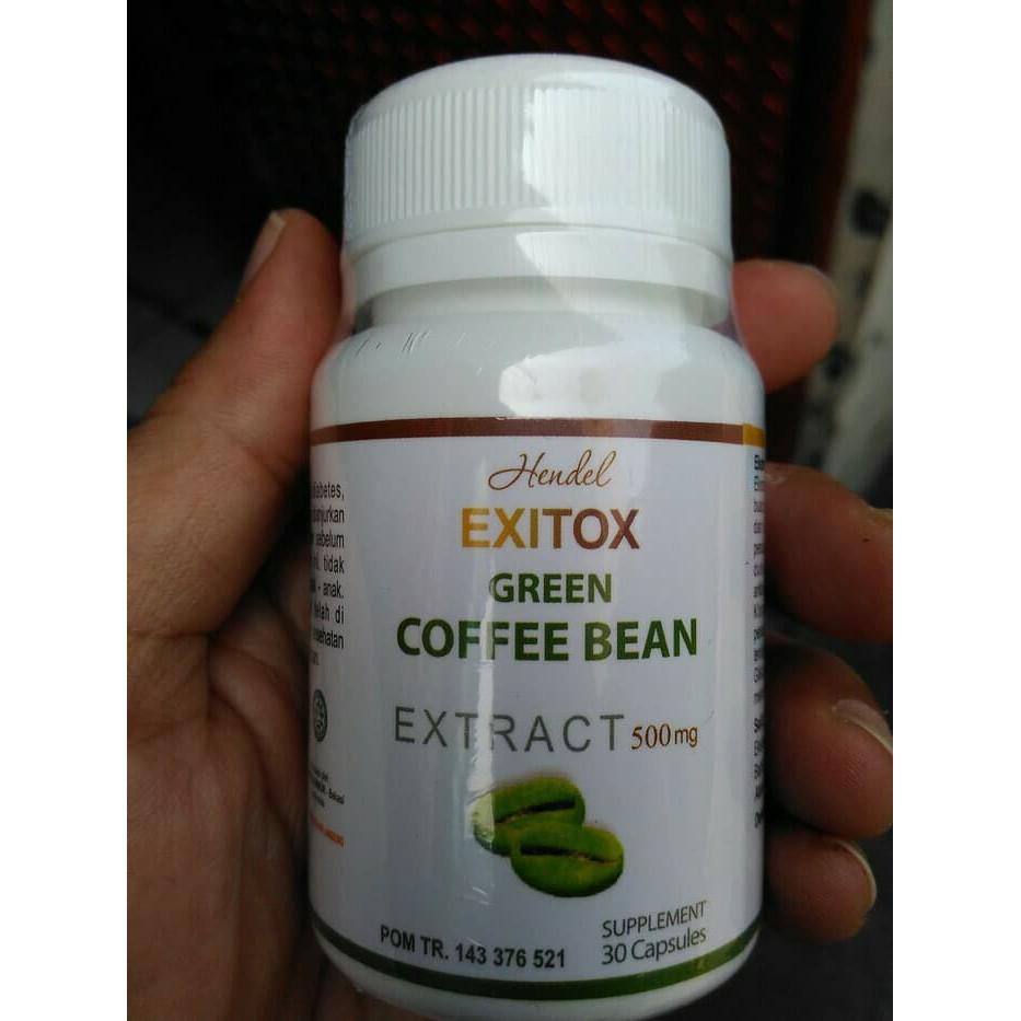 Terbaru Exitox Green Coffee Bean Kapsul Kopi Hijau Pelangsing Extract Ekstrak Diet Original Shopee Indonesia
