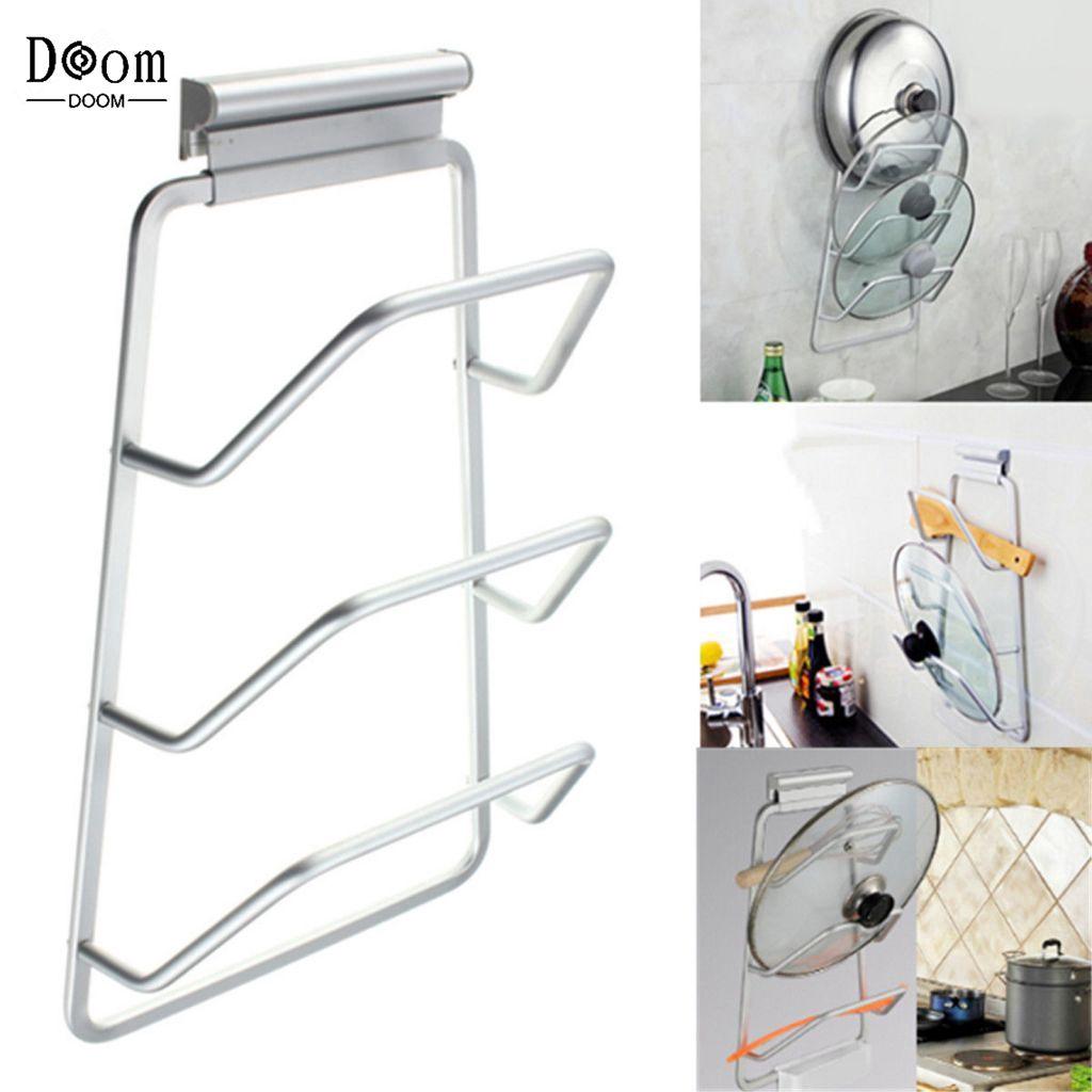Ready Stock Lid Rack Door Kitchen Storage Cabinet Cover Holder