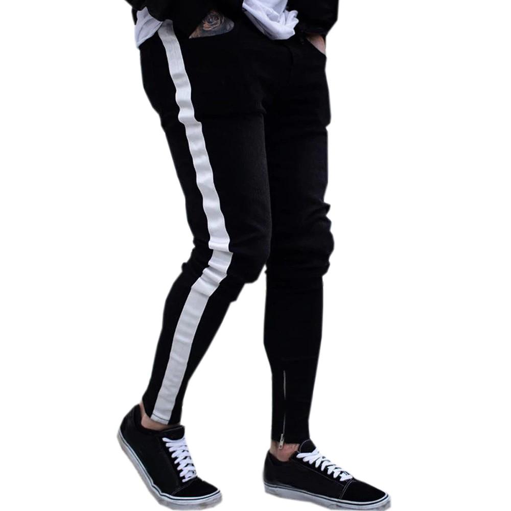 meilleur le plus populaire luxuriant dans la conception Termurah Skinny Jeans Men pantalones hombre Trouser men streetwear Casual  Biker Ripped Frayed Slim