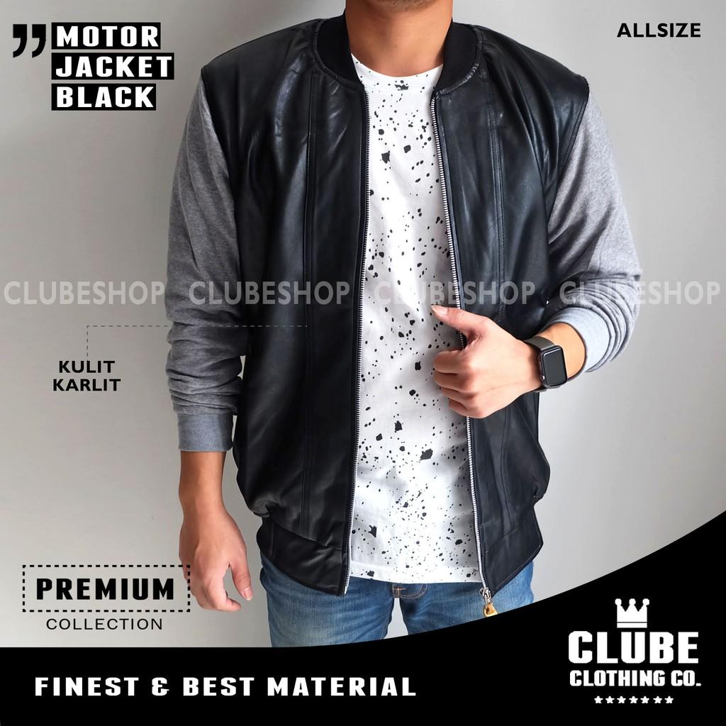 Jaket Denim Pria Cowok Jeans Shopee Baseball Karlit Fleece Button Indonesia