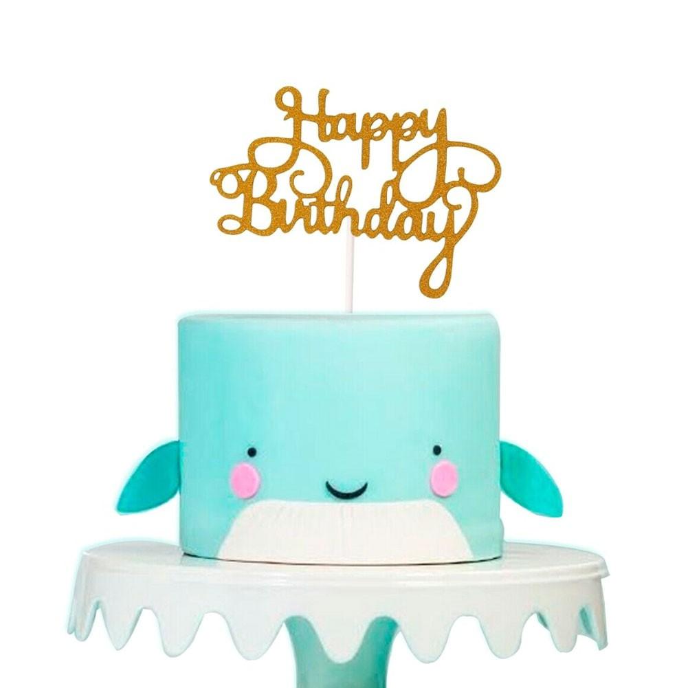 Topper Kue Cupcake Desain Tulisan Happy Birthday Aksen Glitter Bahan Kertas Untuk Dekorasi Pesta Ulang Tahun Shopee Indonesia
