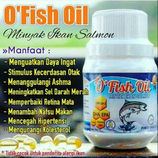 Nutrisi Otak Vitamin Bayi Anak Dewasa Bumil Busui O Fish Oil
