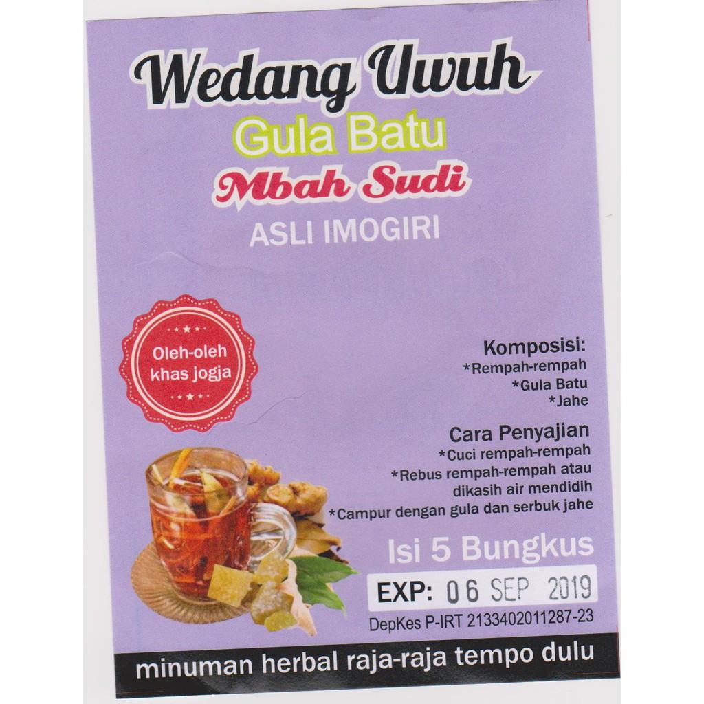 Wedang Uwuh Imogiri Gula Batu Jahe Bubuk 30 Gr Shopee Indonesia