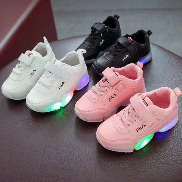 Sepatu Anak Laki Laki Perempuan Fancy Lampu Led Size 26 30 Usia 2