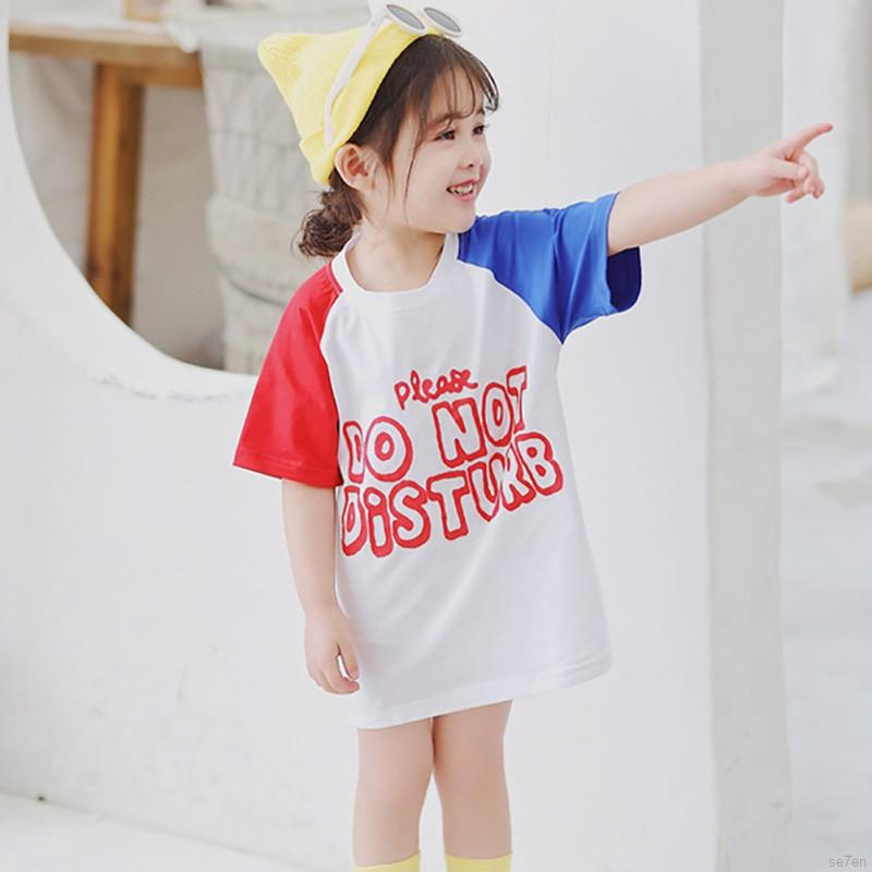 Setelan Kaos T Shirt Anak Perempuan Lengan Pendek Gambar Boneka