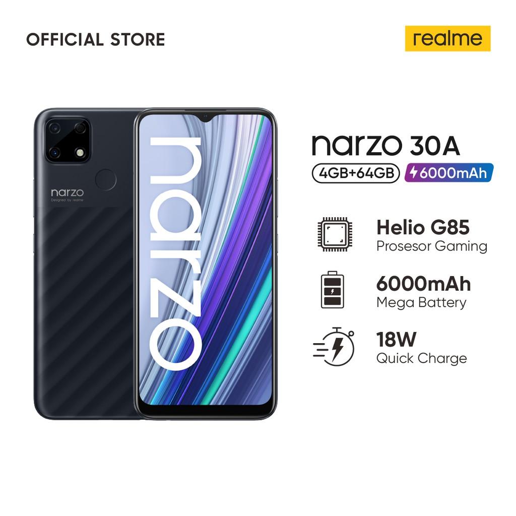 PRE-ORDER] HP realme narzo 30A 4/64GB [Helio G85, 6000mAH, 18W Quick  Charging, AI Camera] | Shopee Indonesia