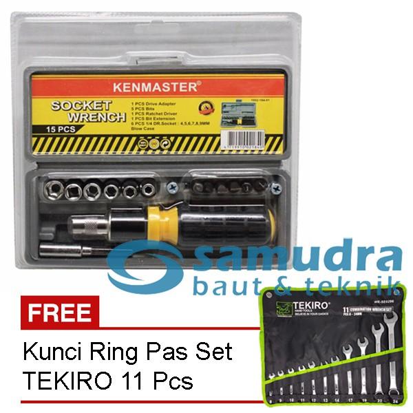 KENMASTER KUNCI SOK SOCK SET 60 PCS & TEKIRO KUNCI RING PAS SET 11 PCS | Shopee Indonesia