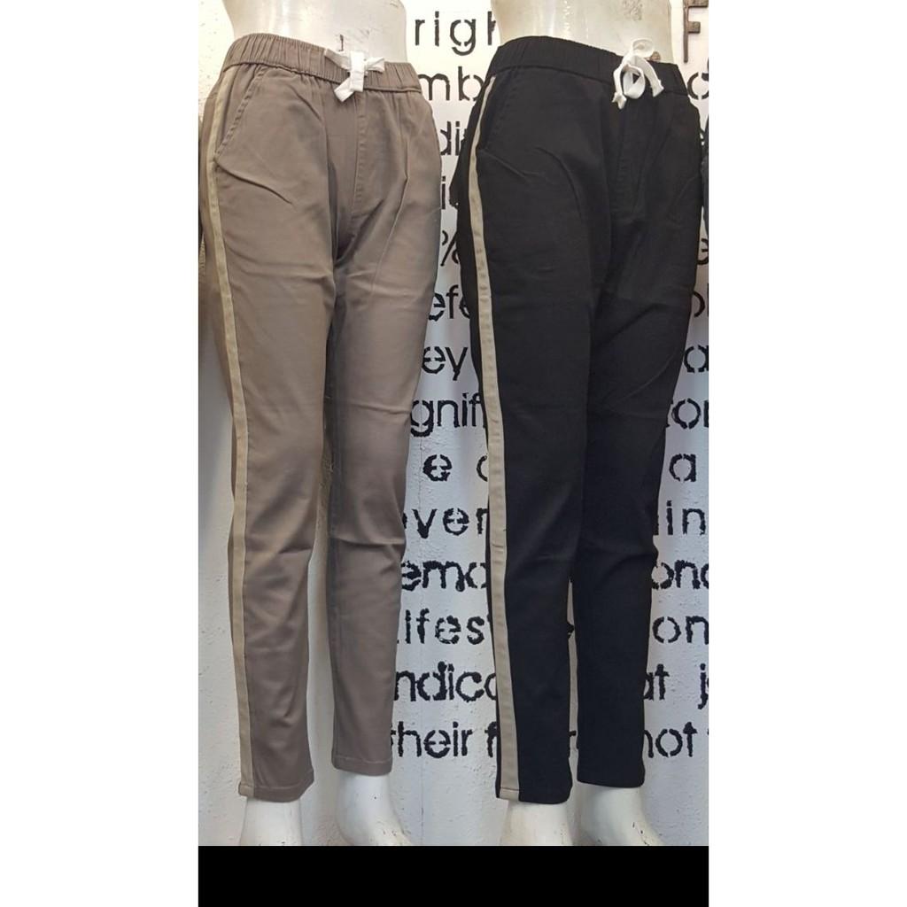 Harem Pants Side Stripes Scuba List Merah Gucci Nagita Zara Stripe Hitam Bahan Wanita Shopee Indonesia