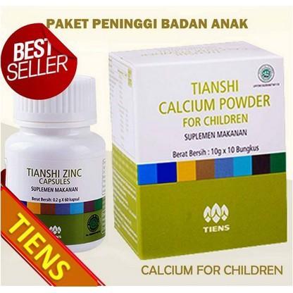 HARGA PROMO Paket Penambah Tinggi Peninggi Badan Tiens Kalsium Calcium NHCP Zinc Panduan | Shopee Indonesia