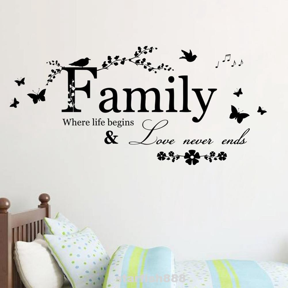 Removable Diy Mural Modern Sofa Backdrop Home Decor Vinyl Art Words Quote Wall Sticker Shopee Indonesia