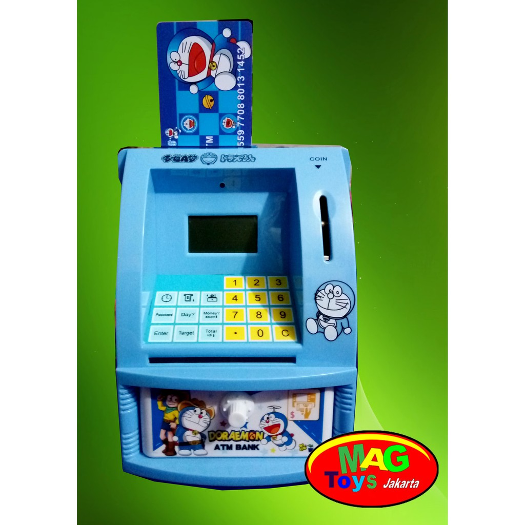 Mainan Anak Atm Mini Celengan Hello Kity Doraemon Hellokitty Pink Shopee Indonesia