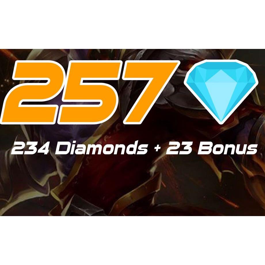 Diamond Mobile Legends: Bang Bang Paket 257 Diamond - Diamond Termurah - Proses Hanya Dalam Hitungan Menit