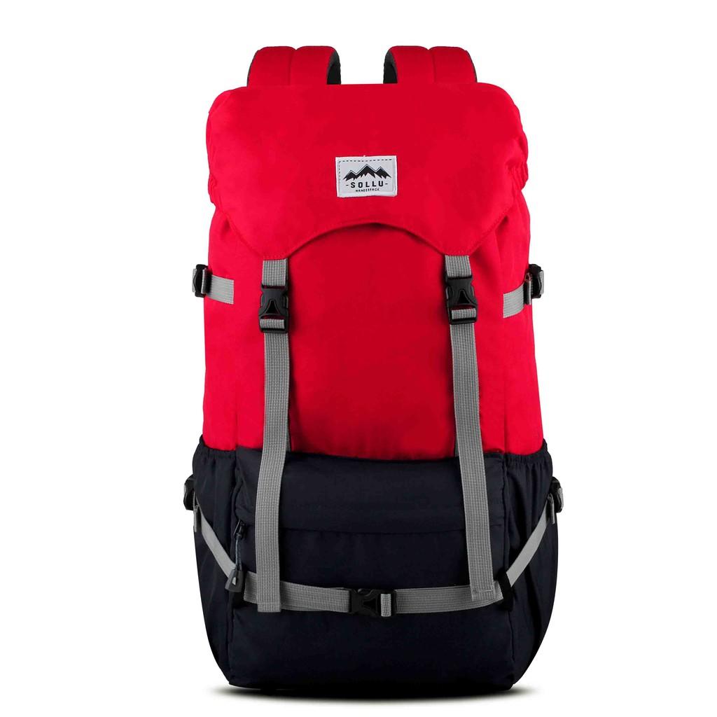 Tas semi carrier Backpack Outdoor Waterproof, laptop up to 16 Inch, Peak Red Navy Series
