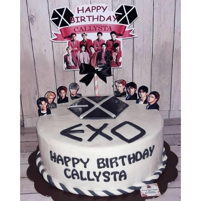 Kue Ulang Tahun Exo Cake Ultah Boyband Korea Exol