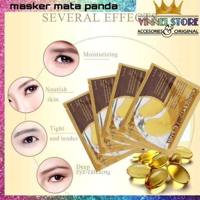 [10pcs] Masker mata panda - Gold Crystal Collagen Eye Mask | Shopee Indonesia