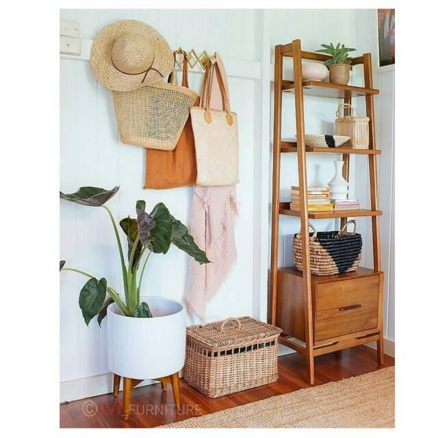 Rak kayu jati / rak buku jati meubel jepara furniture ...