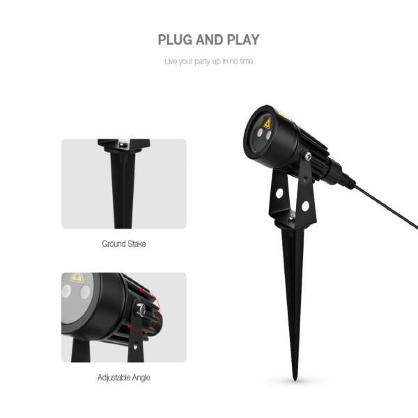 On Sale Lampu Proyektor Laser Motif Pemandangan Taman Dj Disko Untuk Dekorasi Outdoor Shopee Indonesia
