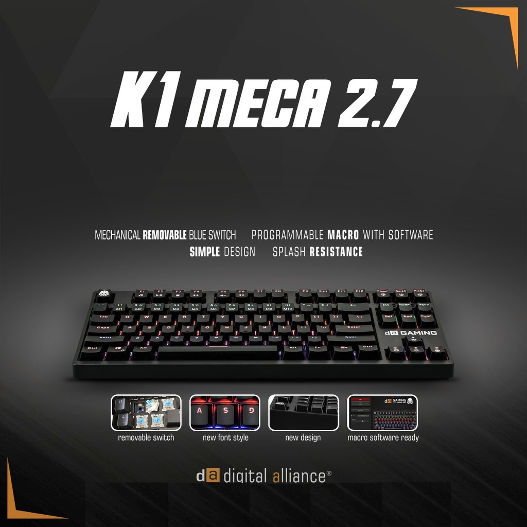 d21eec71854 NEW Release Original Digital Alliance Keyboard Gaming K1 Meca TKL 2.7 |  Shopee Indonesia