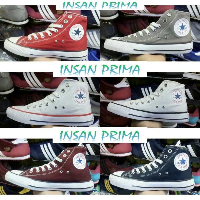 Shoes Sepatu Converse All Star Series Panjang Tinggi High Kw