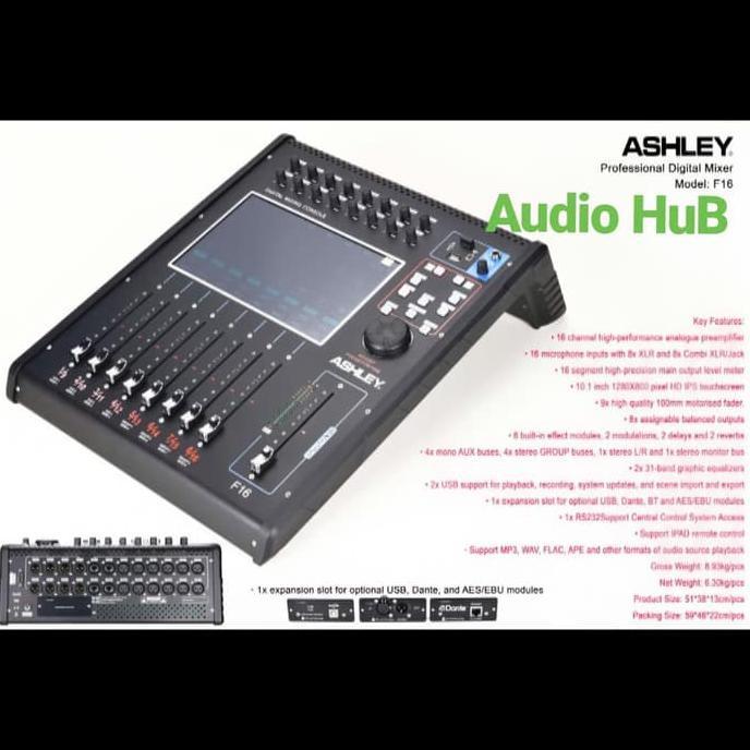 MIXER AUDIO DIGITAL ASHLEY F16 ORIGINAL MIXER ASHLEY F 16 GARANSI | Mixer Audio
