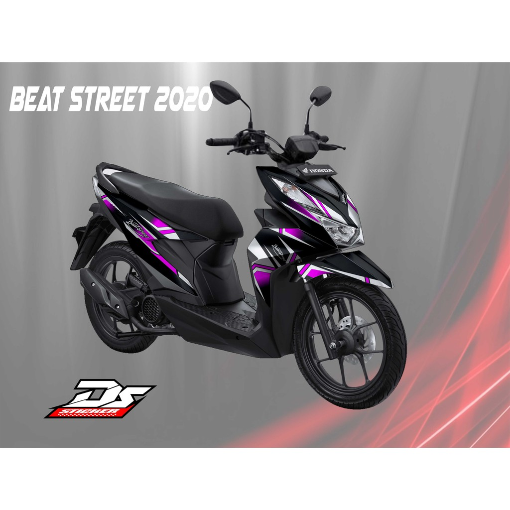 Decal Beat Street 2020 Simpel Pink Shopee Indonesia