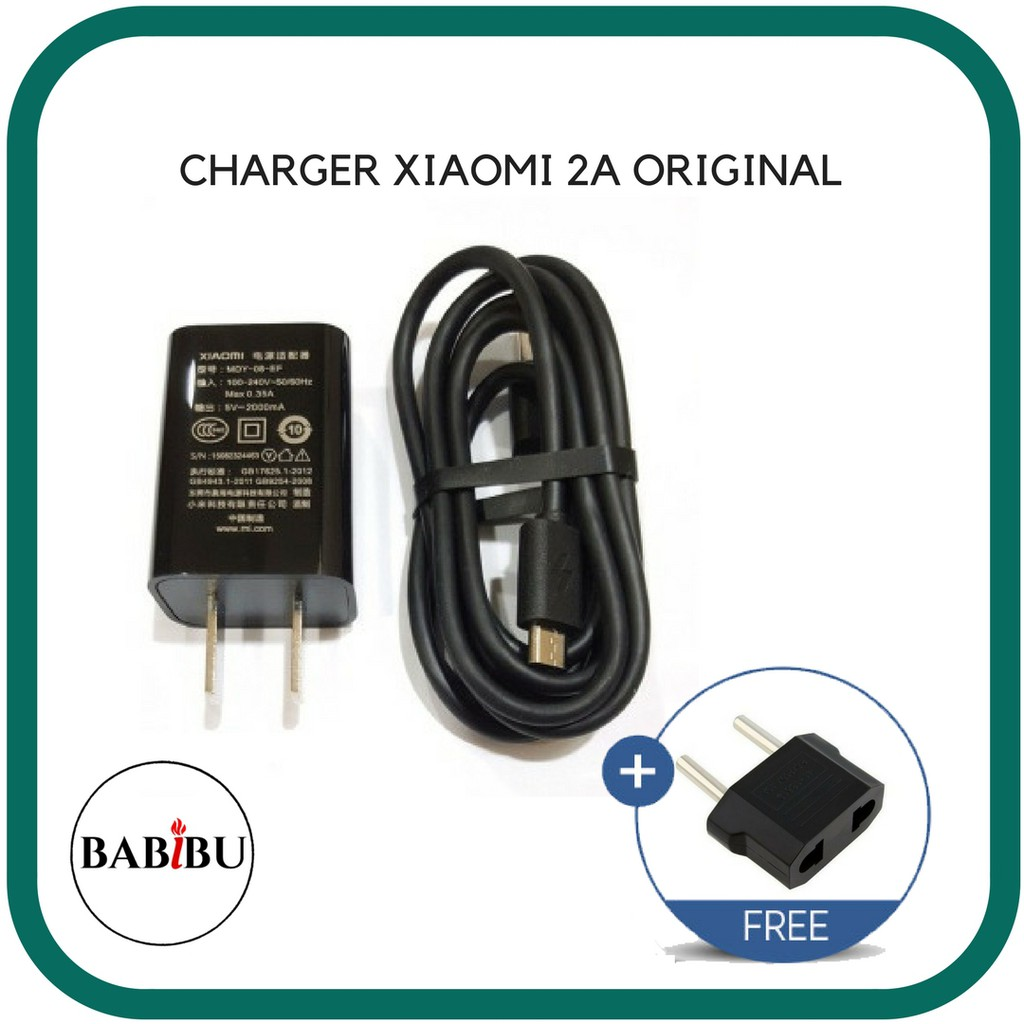 Charger Xiaomi 2a Micro Original 100 1 2 3 4 Colokan Bulat Shopee Indonesia