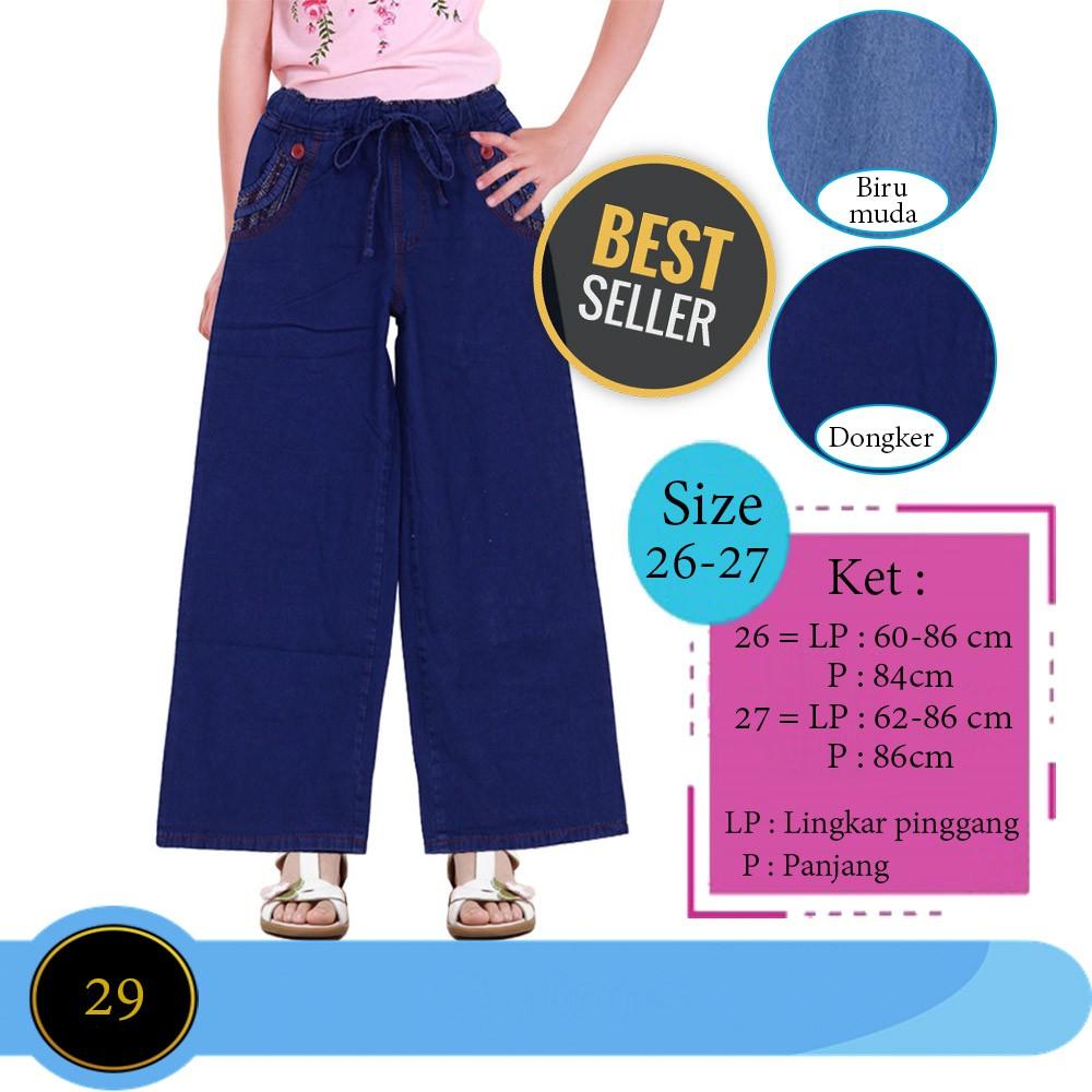 Kulot Anak 8 11 Thn Celana Bahan Spandek Licin Setelan Baju Lengan Panjang Ampamp Jeans Lr 118c Grosir Murmer Shopee Indonesia