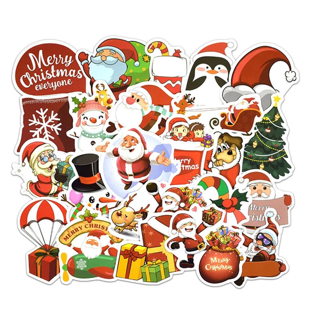 DIY Stiker Dengan Model Amplop Dan Gambar Santa Claus Bernuansa Natal Untuk Scrapbook Album Foto