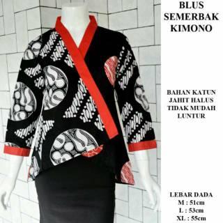 Atasan Blouse Batik Model Kimono Shopee Indonesia