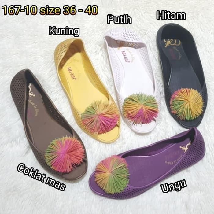 Jelly shoes sepatu wanita bara bara flat shoes karet import 507 | Shopee Indonesia