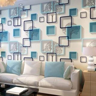 Wallpaper Sticker Dinding Motif Batik Silver Untuk Ruang
