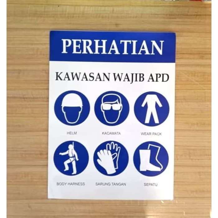 Stiker Kawasan Wajib Apd Sticker Safety Rambu K3 30x40cm Shopee Indonesia