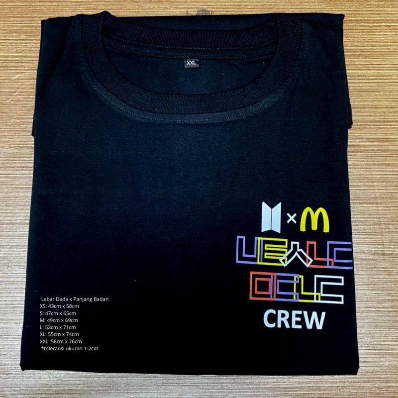 kaos tshirt BTS x Mcd crew merch